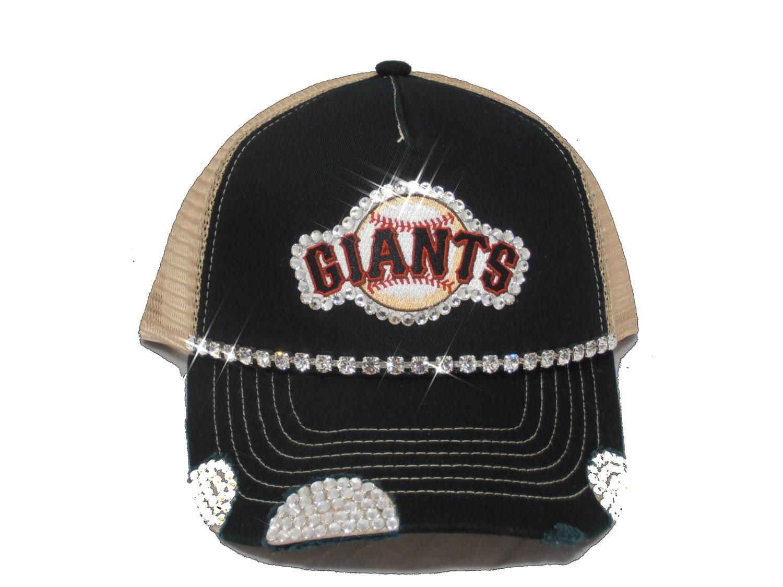 san francisco giants womens bling trucker hat by timetwochange