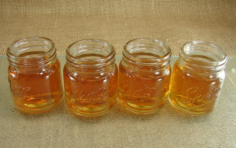 Shots mini mason jar shot glasses mason jar by glassactsupply - Mason jar goblets ...