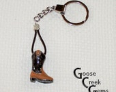 Cowboy Boot Keychain