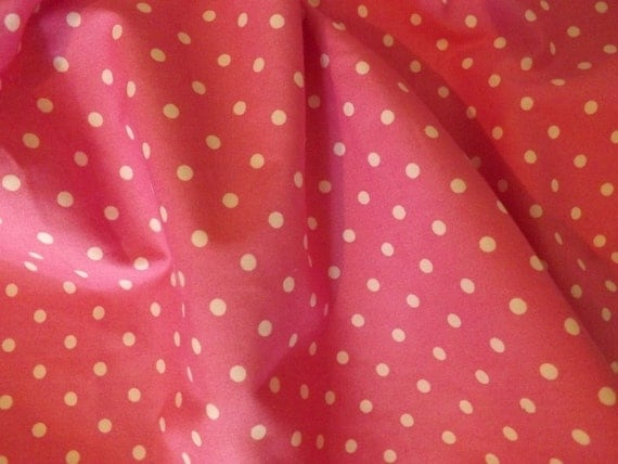 Pink Polka Dots cotton fabric by Fabric Traditions 1 yard, 16 inches