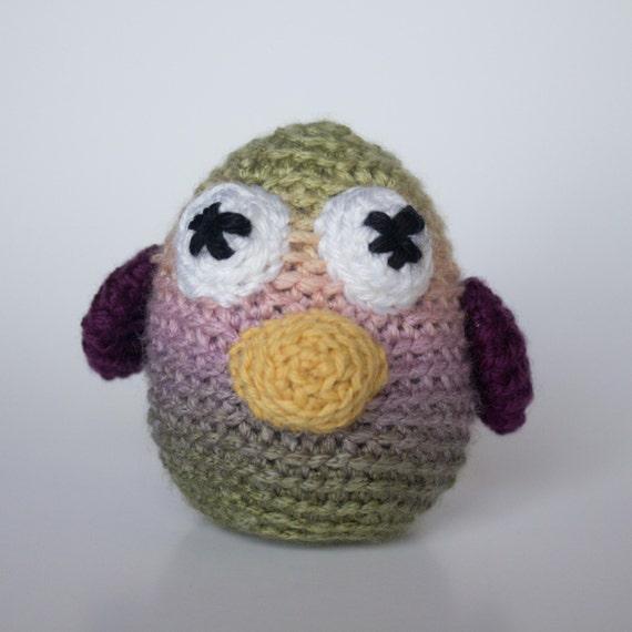 Baby Bird Amigurumi : Crocheted Baby Bird Fun Pastel Multi Colored Amigurumi