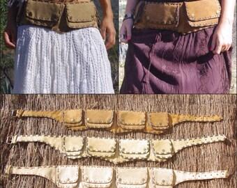 SALE!!!! Utility Belt Leather / Hip Bag leather / Festival Belt / Waist Purse / Pocket Belt / Belt Bag / Gypsy Belt / Nomad Tribal Belt