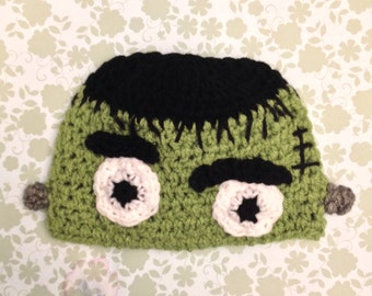 Crochet Frankenstein Hat Baby and Toddlers