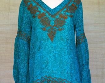 Feroza Peasant Sleeves Tunic for women