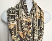 Handmade Harry Potter Daily Prophet Cotton Silk, Sateen, Or Knit Fan Infinity Scarf