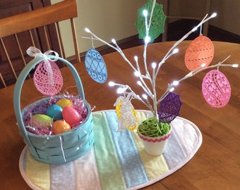 Easter Egg Lace Ornaments
