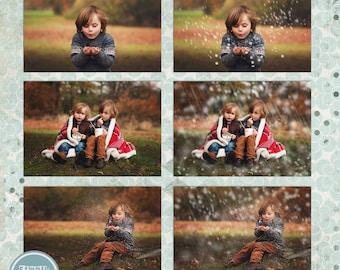 Snow Overlays , Photo Overlays, Overlay,  Snow Textures - INSTANT DOWNLOAD