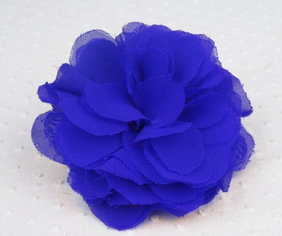 Cobalt Blue Begonia Flower Hair Clip By Thimbledandthreaded