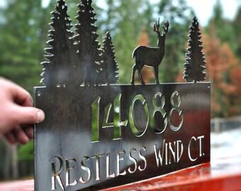 Address Sign, address plaque, metal address sign, house address sign, personalized address sign, rustic address sign
