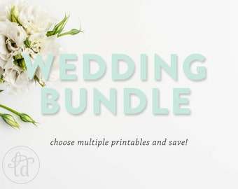 WEDDING BUNDLE - Choose up to 4 signs and save!
