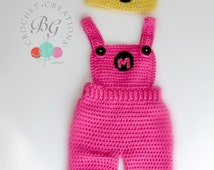 Ready to Ship Baby Girl Minion Overalls-Crochet Minion ...