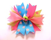 How to make ribbon spike hair bows tutorial / DIY spike hairbow instructions