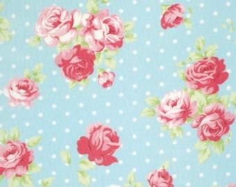 SALE Lilly- Lulu Roses - Tonya Whelan - Sky - 1/2 Yard