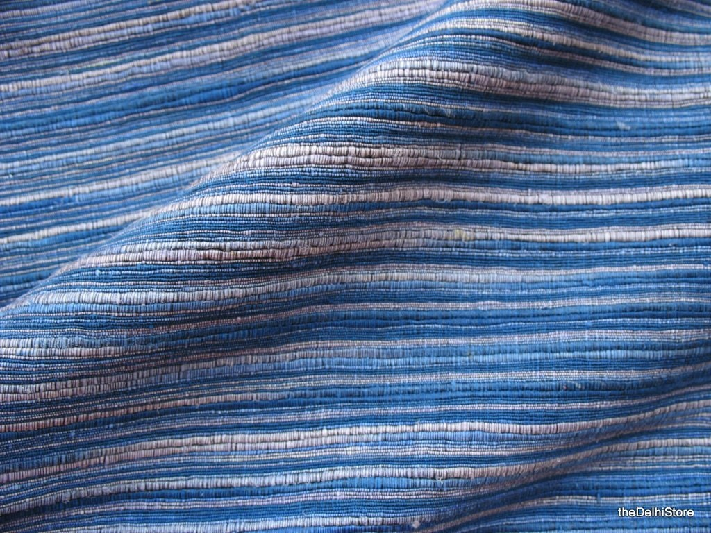 Handloom Ribbed Silk Fabric Heavy Weight Fabric Sold By Yard