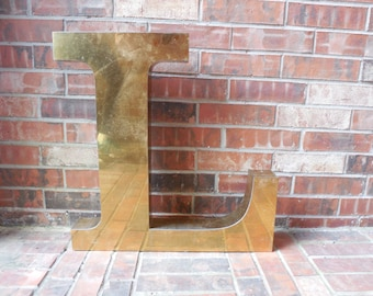 "GIANT Reclaimed Metal Sign Capital Letter ""L"", Wedding, Birthday, Guest Book, Industrial Salvage, Home Decor, Office Decor, Industrial Decor"