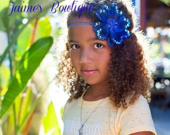 Large Sequin Flower Headband