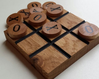 Noughts and crosses game, tic tac toe game, tic tac toe, noughts and crosses, classic games, wooden games, travel games