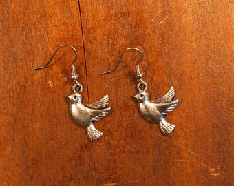 Flying dove earrings