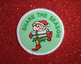 Vintage Scout Christmas Fun Service Patch-Share The Season
