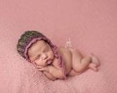 Newborn {Vintage Swirl} Bonnet, Newborn Photography Prop