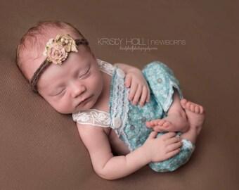 Newborn to Child {Felicity} Tieback headband, Newborn Photography Prop. Child Photography Prop