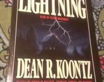 DEAN KNOOTZ Lightning, Cassette Tape Books, Books on Tape