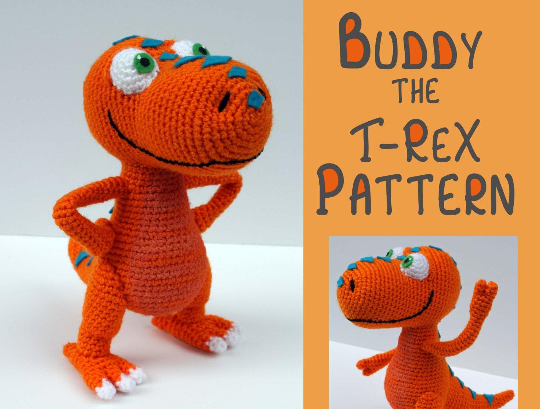 Amigurumi Patron Crochet Dinosaurio Trex Psychologyarticlesinfo