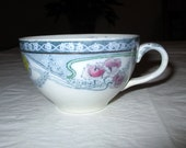 Royal Staffordshire Pottery RENOWN Cup Burslem England, Hand Decorated Gold Trim
