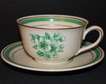 KPM Porcelain Teacup and Saucer Set.