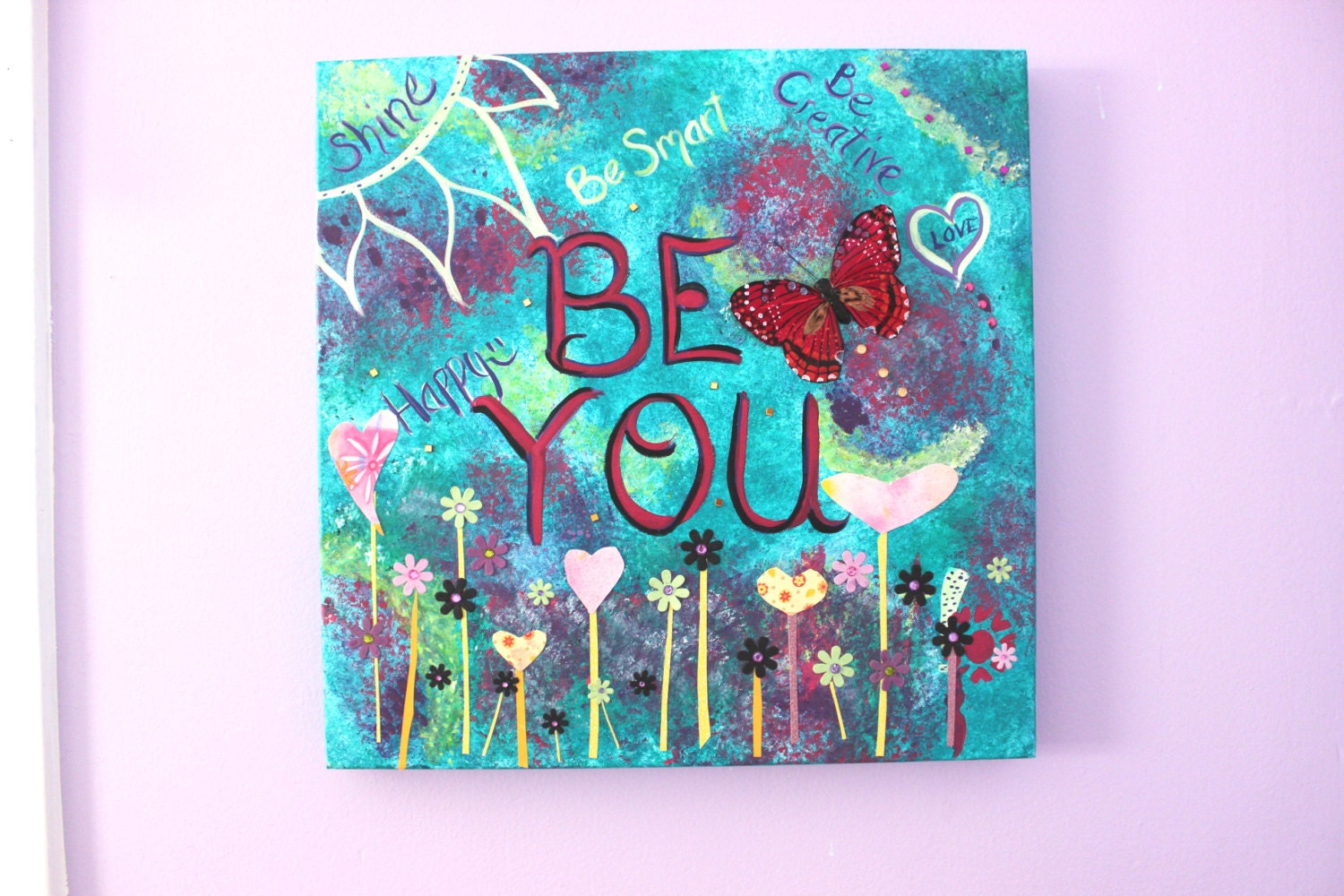 inspirational quote canvas art mixed media by