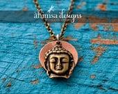 Copper Buddha Mantra Necklace