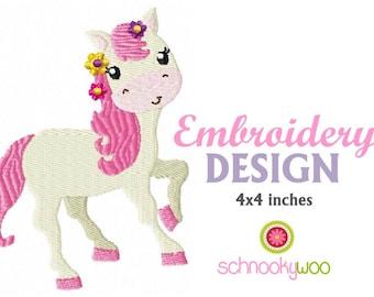 Horse embroidery design, cute pony design, pony embroidery design, horse embroidery, horses, pony