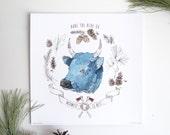 "12""x12"" Blue Babe Print"
