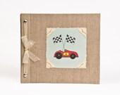 Baby Book - Baby Memory Book - Boy, Race Car, Baby Album - Race Car Baby Memory Book - Hugs and Kisses XO Baby Memory Book