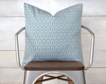 "SALE Dwell Studio Pillow Cover, Baby Blue Pillow Cover, Throw Pillow, 20"" x 20"""