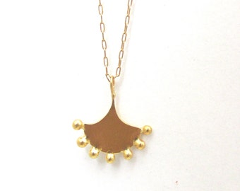 Gold necklace, unique design, delicate necklace handmade Moroccan Style, 14k solid gold