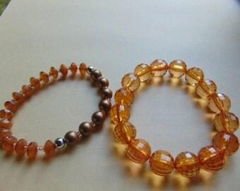 2 Vintage Stretch Bracelets