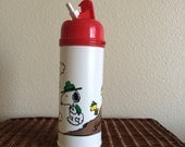 Snoopy and Woodstock camping water bottle