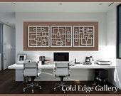 "Home Office Art, Metal Wall Art, Art, Decor, Abstract, Contemporary, Modern, Sculpture ""Squared 3"""