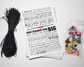 Wish Bracelet - Multi Color DIY pack to make 50 - Wedding Favors - Graduation - Party Favors