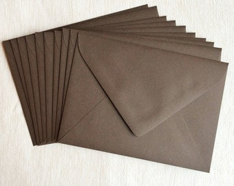Pack of 10 A7 Envelopes [ Chocolate Brown ]