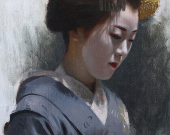 """Maiko Tomitae - 8"""" x 10"""" signed print of an original oil painting"""