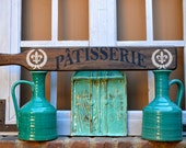 Patisserie wooden sign. Hand Painted Decorative wall sign for kitchens and/or restaurants.