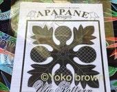"Hawaiian quilt pattern ""ULU"" 20 inch x 20 inch"