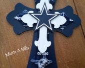 Dallas Cowboys Layered Cross, NFL football, man cave