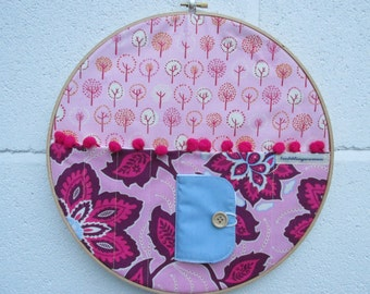 Embroidery Hoop wall storage