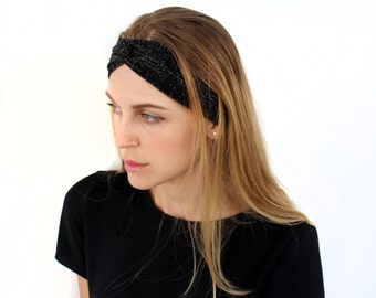 Lurex Turban Twist Head Wrap Headband Twisted Knotted Hair Band