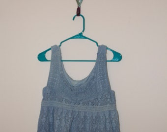 Crocheted Dyed Indigo Top
