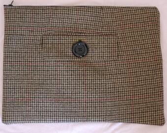 Zippered Silk and Wool Laptop Sleeve MacBook 13 inch