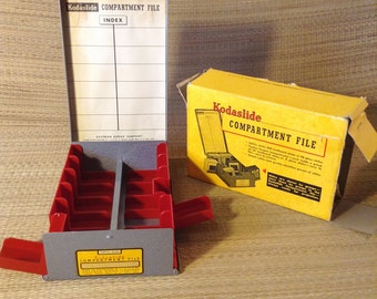 Kodaslide Compartment File - Excellent Condition - with Original Box - Holds 35mm Slides
